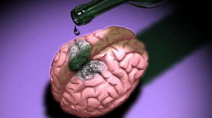 Интоксикация клеток мозга