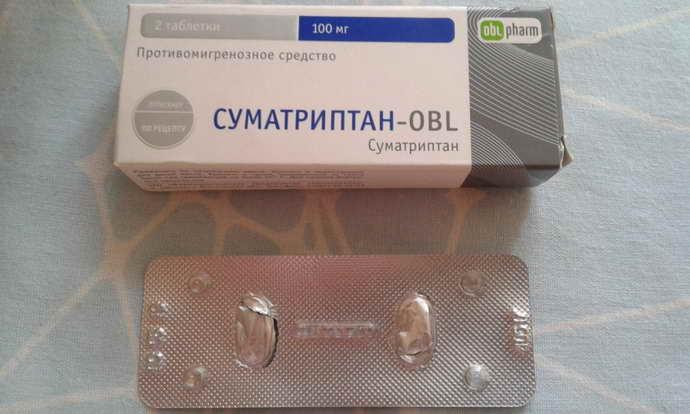 После приема таблеток «Суматриптан»
