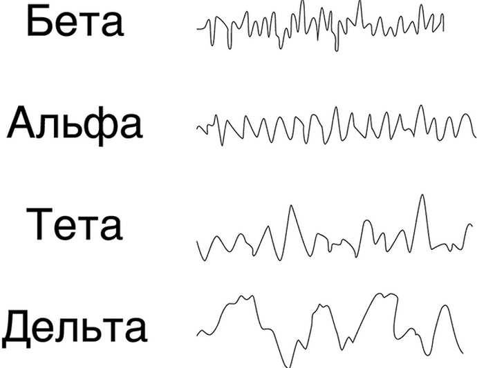 Бета-ритмы также присутствуют при нормальной деятельности головного мозга