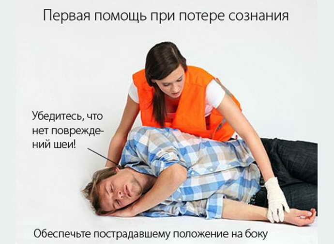 Помощь людям, упавшим в обморок