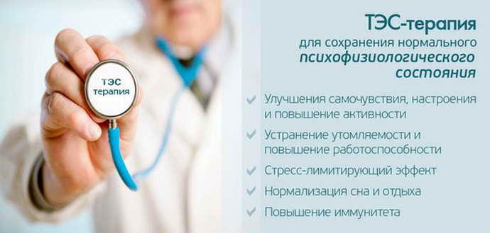 Действие ТЭС в разных сферах медицины