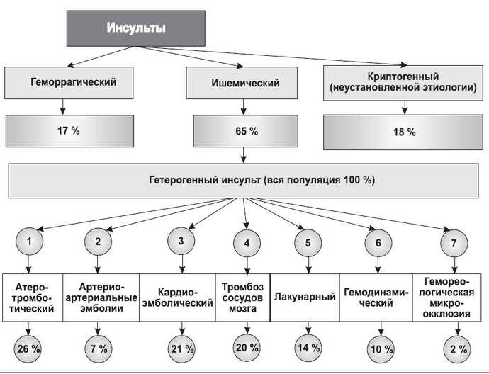 ишемический инсульт классификация
