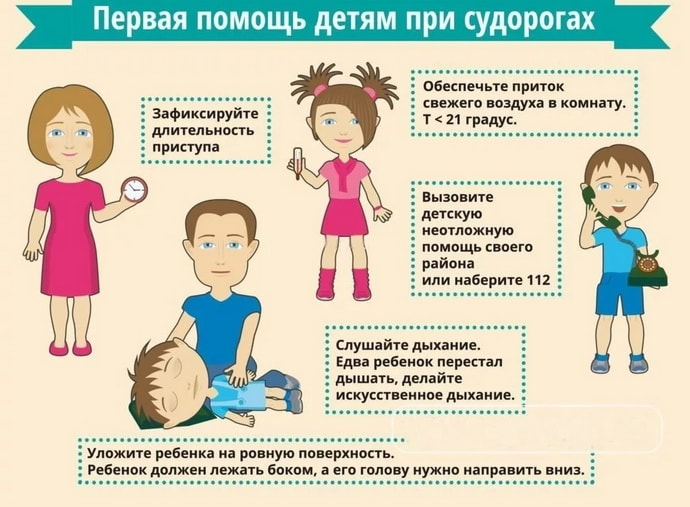 Как помочь ребенку при судорогах