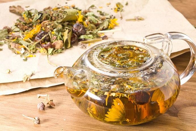 травяной чай при всд